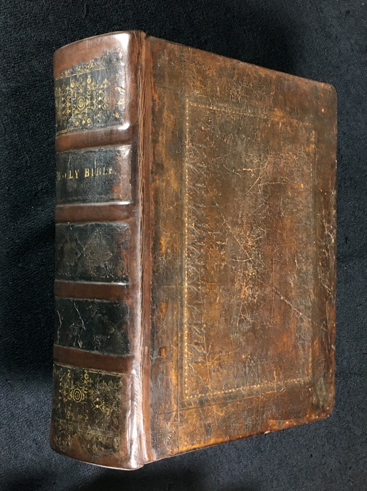[An UNRECORDED EDITION of the BIBLE]: The Oxford Family-Bible; or, Christian's Compleat Library. Containing the Sacred Text of the Old and New Testament, at Large; together with the Apocrypha. With Notes Theological, Moral, Critical, and Explanatory. Wherein The Difficult Passages are explained, the seeming Contradictions reconciled, and the Objections of Infidels obviated. [The text appears to be that of the King James Bible.]. the Rev. Charles Stanhope, in Wilts. ., D. D.: Rector of Brinkworth, a Society of Gentlemen of the University of Oxford, **see note concerning the doubtful credentials of this gentleman.