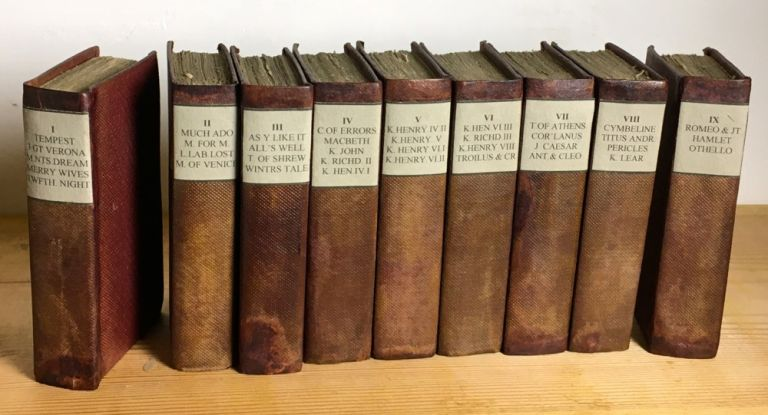 The Plays of William Shakespeare, in Nine Volumes. [Miniature edition]. William Shakespeare.