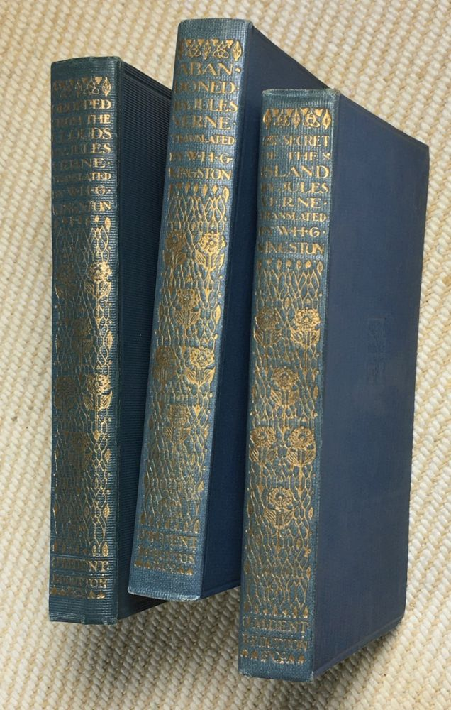 Dropped from the Clouds; Abandoned; The Secret of the Island. 3 vols, #367, 368, & 369 in the Everyman Library. Jules Verne, W H. G. Kingston.