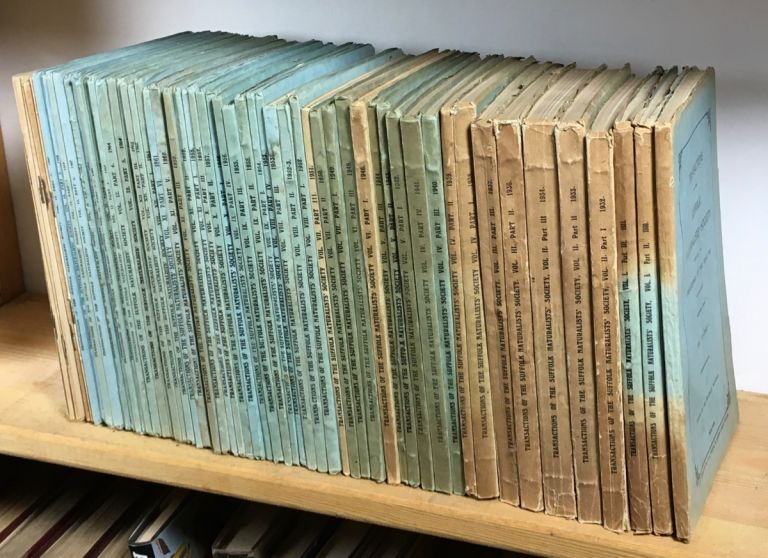Transactions of the Suffolk Naturalists' Society, including the Proceedings of the Year .... . 52 issues. Nearly complete run from 1929 to 1969.