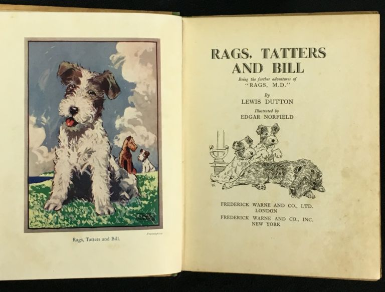 """Rags, Tatters and Bill: being the further adventures of """"Rags, M.D."""" Lewis Dutton, Edgar Norfield."""