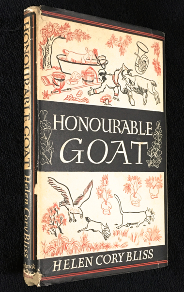 Honourable Goat. [Inscribed by publisher]. Helen Cory Bliss, Aldren A. Watson.