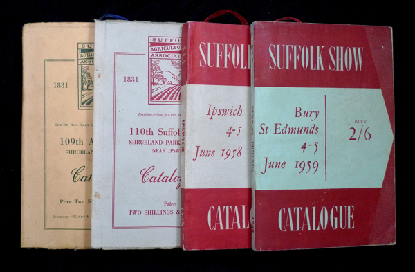 Suffolk Show: Catalogues / Programme books for the 1952, 1953, 1958 and 1959 Suffolk County Show. Suffolk Agricultural Association.