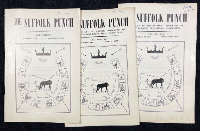 The Suffolk Punch. Magazine of the Suffolk Federation of the Workers' Educational Association. Issues 5, 6, & 7 (Nov.1956, March & Nov. 1957). H A. Clement.