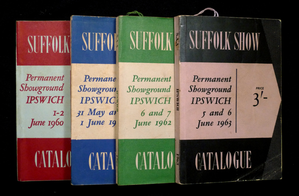 Suffolk Show: Catalogues / Programme books for the 1960, 1961, 1962 and 1963 Suffolk County Show. Suffolk Agricultural Association.