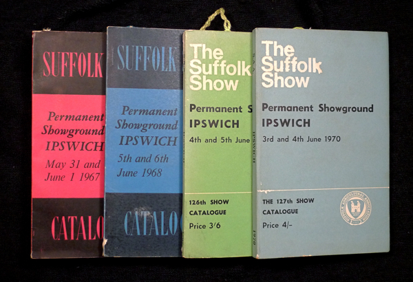 Suffolk Show: Catalogues / Programme books for the 1967, 1968, 1969 and 1970 Suffolk County Show. Suffolk Agricultural Association.