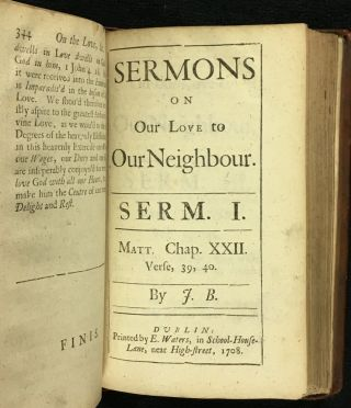 Sermons Preach'd on Various Subjects [Vol I title] and Sermons Preach'd on Several Subjects [Voll II title].