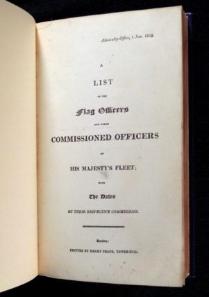 A List of the Flag Officers and other Commissioned Officers of His Majesty's Fleet; [BOUND WITH] An alphabetical List of the Post Captains, Commanders, and Lieutenants of His Majesty's Fleet; with the dates of their respective commissions.