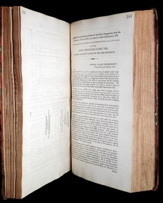 [ Parliamentary Papers, 1822: ] VOL. XXI. Accounts and Papers (2.) relating to: The Bank of England, The Bank of Scotland, and Country Banks; Corn, Grain, Malt, Beer, Distilleries, and Spirits; Courts of Law; Extents in Aid; Public Works; British Museum; Vaccine; & c. Session 5 February to 6 August, 1822.