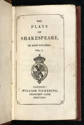 The Plays of William Shakespeare, in Nine Volumes. [Miniature edition].