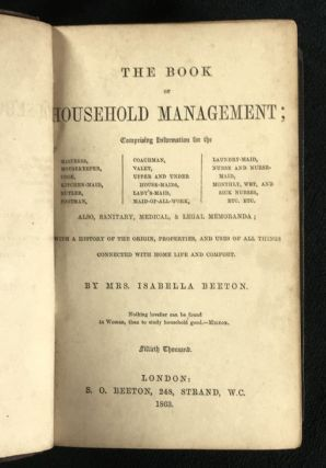 The Book of Household Management.