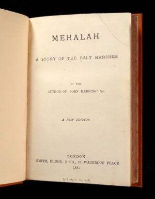Mehalah: A Story of the Salt Marshes.