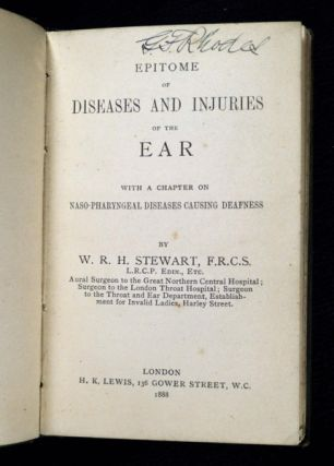 Epitome of Diseases and Injuries of the Ear: with a chapter on naso-pharyngeal diseases causing deafness.