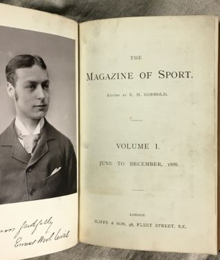 The Magazine of Sport. Volume I. June to December, 1888. E H. Godbold.