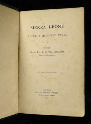 Sierra Leone After a Hundred Years.