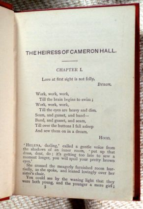 The Heiress of Cameron Hall.