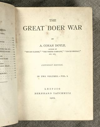 The Great Boer War. Complete in two volumes, bound together. [Tauchnitz vols 3464 & 3465].