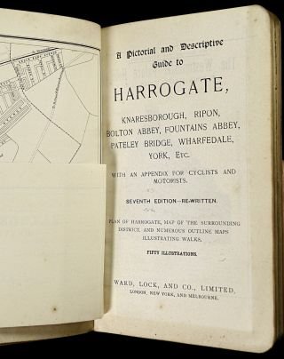 A Pictorial and Descriptive Guide to Harrogate, Knaresborough, Ripon, Bolton Abbey, Fountains Abbey, Pateley Bridge, Wharfedale, York, Etc. With an appendix for cyclists and motorists. ['Red guides']