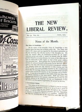 The New Liberal Review: Vol VII. No. 39.