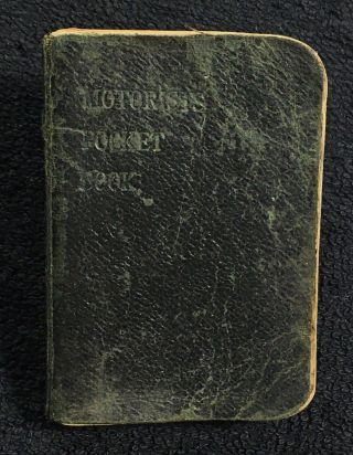 Motorists' Pocket Book. Car Insurance Corporation, and General, aka Car Insurance Corp Ltd