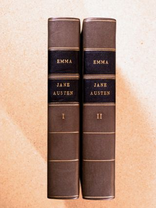 Emma (complete in two volumes). [Vols VII & VIII of The Winchester Edition of the Novels of Jane Austen.]