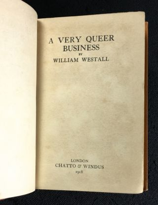 A Very Queer Business. (Short stories)