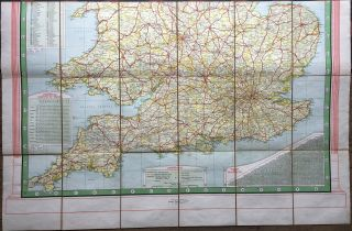 Daily Mail Milestone Motor Map: England: North Section and South Section together in slipcase.