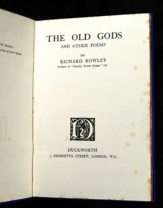 The Old Gods and other poems.