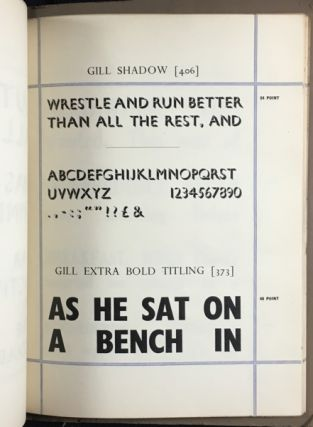 The Church Army Press: Specimen sheets of some of our type faces.