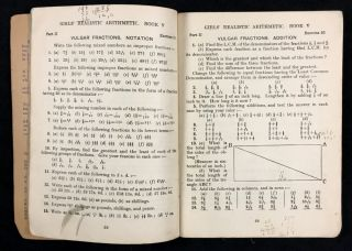 Nisbets' Girls' Realistic Arithmetic together with Supplementary Exercises. Book V. [Apostrophe misplaced on Nisbets as printed]
