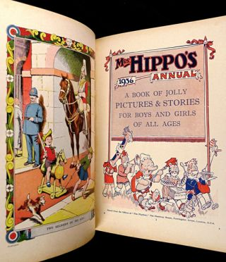 Mrs Hippo's Annual 1936. A Book of Jolly Pictures & Stories for Boys and Girls of all ages.