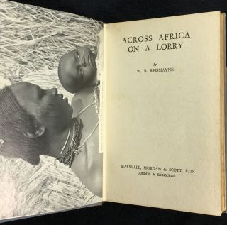 Across Africa on a Lorry. [Inscribed copy]