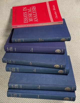 Essays in Musical Analysis. The original set of 6 vols in hardback, with the Supplementary volume...