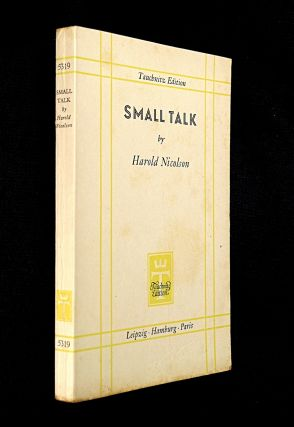 Small Talk. (Essays). Harold Nicolson