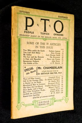 People Topics Opinions / PTO / P.T.O. Vol. 1. No.3, September 1939. Brightest Digest of the...
