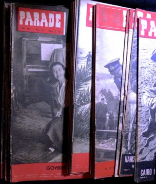 Parade Middle East Weekly: a collection of 39 issues from 1941, 1942, 1943, 1944, 1945. Major H....