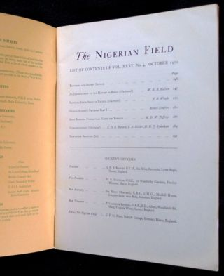 The Nigerian Field: Vols XI - XXXV: 28-year run, lacking only 2 issues. 94 issues in all.