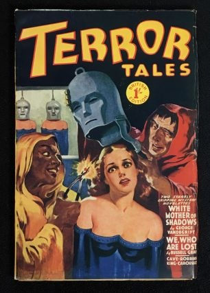 Terror Tales. Pulp magazine, British Edition. Stories are: White Mother of Shadows; Carnage on...