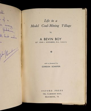 Life in a Model Coal-Mining Village. [Inscribed Copy]