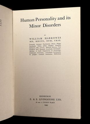 Human Personality and its Minor Disorders.