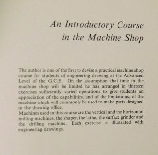 An Introductory Course in the Machine Shop.