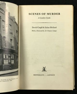 Scenes of Murder: A London Guide.