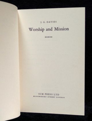 Worship and Mission.
