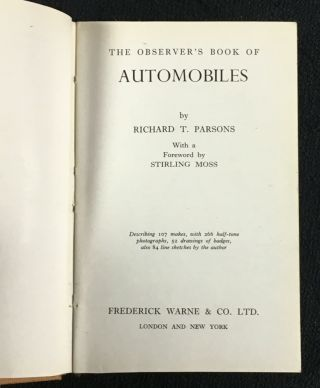 The Observer's Book of Automobiles.