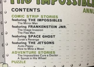 The Impossibles Annual: with Space Ghosts, the Jetsons, & featuring Franky Jnr.