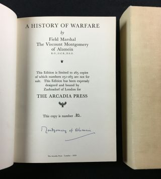 A History of Warfare. [Signed copy]