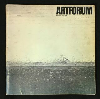 Artforum: 1969 February. Vol VII No.6, with Richard Serra cover.
