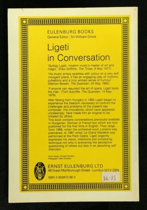 Ligeti in Conversation - with Peter Varnai, Josef Hausler, Claude Samuel and himself.