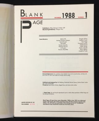 Blank Page: The full run of 6 volumes.