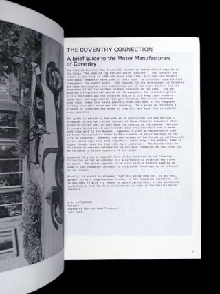 A brief guide to the Motor Manufacturers of Coventry.